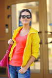 Stylish young woman wearing sunglasses Royalty Free Stock Image
