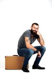 Stylishly confident. Handsome young bearded man Royalty Free Stock Photo