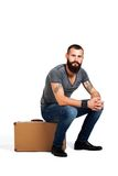 Stylishly confident. Handsome young bearded man Stock Photography