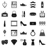 Stylist icons set, simple style. Stylist icons set. Simple set of 25 stylist vector icons for web isolated on white background Stock Images