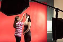 Stylist make image of photo model Royalty Free Stock Image