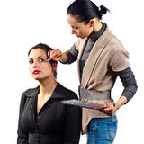Stylist works with model Stock Photography