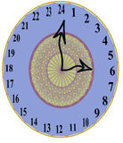 Styliste unique 24 heures d'horloge murale Image libre de droits