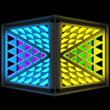 Stylistic abstract light background with a diverse geometric structure. 3D illustration. Stylistic abstract light background with a diverse geometric structure royalty free illustration