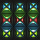 Stylistic abstract light background with a diverse geometric structure. 3D illustration. stock illustration