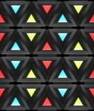 Stylistic abstract light background with a diverse geometric structure. 3D illustration. Royalty Free Stock Images