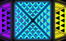 Stylistic abstract light background with a diverse geometric structure. 3D illustration. vector illustration