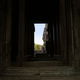 Stylistic device of temple Bayon in Cambodia Stock Photos