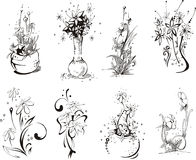 Stylistic flower designs Royalty Free Stock Photo