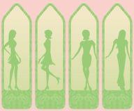Stylisy women tags Royalty Free Stock Photo
