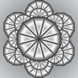 Stylizacyjna metal owoc pomarańcze w 3D Obrazy Stock