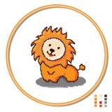 Stylization του λιονταριού παιχνιδιών παιδιών s διαγώνιος-ραψίματος r απεικόνιση αποθεμάτων