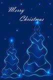Stylization рождественских елок 2 Стоковые Изображения RF