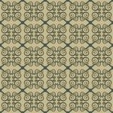 Άνευ ραφής γεωμετρική διακόσμηση με τους στροβίλους Stylization των ελληνικών και ασιατικών σχεδίων Στοκ Φωτογραφίες