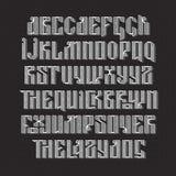 Латинский stylization старого славянского шрифта Стоковые Фото