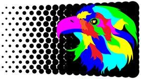 Stylization abstrato da águia ilustração royalty free