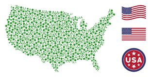 Stylization americano del mapa del agente de nervio de WMD Chemical Warfare libre illustration