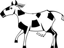 Stylization cow Royalty Free Stock Photos