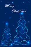 Stylization de los árboles de navidad 2 Imágenes de archivo libres de regalías