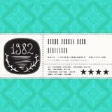 Stylization del vector del diseño de la etiqueta del vintage Foto de archivo