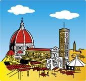Stylization della cattedrale di Firenze fotografie stock libere da diritti