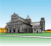 Stylization des Wunderfeldes in Pisa Lizenzfreie Stockfotos