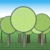 Stylization green forest Stock Photography