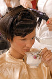 The stylization of the hair Stock Images