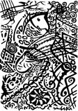 Stylization indio del arte ilustración del vector