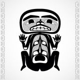Stylization moderne d'art indigène canadien, un homme Photo stock