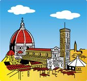 Stylization van de kathedraal van Florence Royalty-vrije Stock Foto's