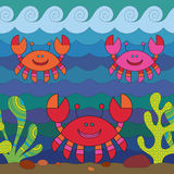 Stylize crab Stock Image