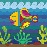 Stylize Fish. Stylize fantasy fish under water Stock Photo