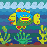 Stylize Fish. Stylize fantasy fish under water Royalty Free Stock Photo