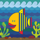 Stylize Fish. Stylize fantasy fish under water Royalty Free Stock Photos