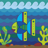 Stylize Fish. Stylize fantasy fish under water Stock Images