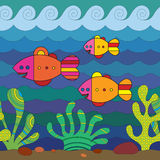 Stylize Fishes Royalty Free Stock Photography