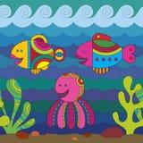 Stylize Fishes Royalty Free Stock Image