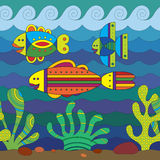 Stylize Fishes Royalty Free Stock Photos
