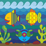 Stylize Fishes Royalty Free Stock Images
