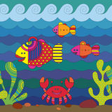 Stylize Fishes Stock Photography