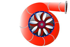 Stylize water turbine rotor Stock Photos