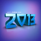 Stylized 2013 Happy New Year background. EPS 10 stock illustration