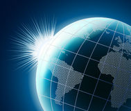 Stylized 3D vector globe Royalty Free Stock Photo