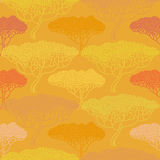 Stylized abstract autumn tree illustration. Wallpaper seamless p Stock Images