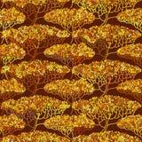 Stylized abstract autumn tree illustration Royalty Free Stock Photo