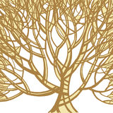 Stylized abstract brown tree. Art illustration Royalty Free Stock Photos