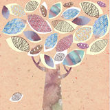Stylized abstract decorative tree fall Stock Images
