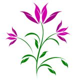 Stylized Abstract Flower Trio Illustration Stock Photography
