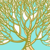 Stylized abstract green tree. Art illustration Stock Image